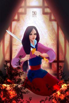 Mulan by tau-illustrations.deviantart.com on @DeviantArt