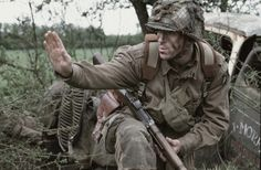 Damien Lewis playing Dick Winters. - Band of Brothers...most fabulous TV series ever.
