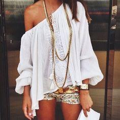 Damen Chiffon Sommer Shirt