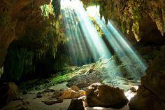 Grutas de Loltún, Yucatan, Mexico — by Antonio and Amanda @ CYCLING EL MUNDO. Loltun Caves in Mexico´s Yucatan Peninsula
