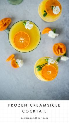 These frozen orange creamsicle cocktails are the perfect way to cool down this summer! Orange Creamsicle, Always Hungry, Beer Recipes, Simple Syrup, Summer Recipes, Cantaloupe, Good Food, Frozen, Cocktails
