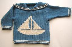 Brendan nautical baby sweater by Chocolate & Vegetables, via Flickr