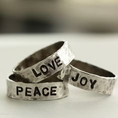 Inspirational Stamped Sterling Silver Ring.