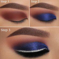 Makeup Revolution Foundation Maroon Smokey Eye make up tutorial Natural Eye Makeup, Blue Eye Makeup, Eye Makeup Tips, Mac Makeup, Makeup Tools, Eyeshadow Makeup, Beauty Makeup, Makeup Ideas, Makeup Brushes