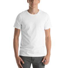 1137d626 Bella + Canvas 3001 Unisex Short Sleeve Jersey T-Shirt with Tear Away Label  - Mockup Generator