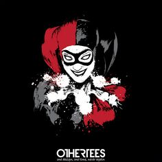 """""""Harlequin"""" by Dr.Monekers T-shirts, Tank Tops, Sweatshirts and Hoodies are on sale until 1st November at www.OtherTees.com Pin it for a chance at a FREE TEE! #harleyquinn #batman #joker #dc #dccomics #detectivecomics #comics #otheertees"""