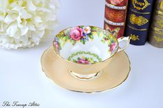 Paragon Tapestry Rose Teacup and Saucer English Bone China