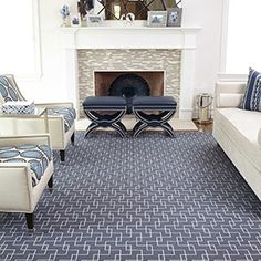 Stanton carpet at Westchester House & Home Bedroom Carpet, Living Room Carpet, Living Room Grey, Small Living Rooms, Room Paint Colors, Paint Colors For Living Room, Modern Area Rugs, Modern Room, Stanton Carpet