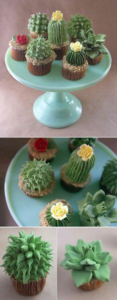 Kaktus-Törtchen backen für Fortgeschrittene