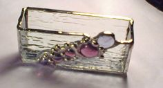 Business Card Holder Stained Glass Choice of by DianeMarieArt, $34.00