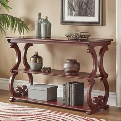 Lark Manor Noisettier Console Table Best Picture For Disney Home Decor how to make For Your Taste Yo Sofa End Tables, Entryway Tables, Traditional Console Tables, Traditional Furniture, Wooden Console Table, Disney Home Decor, Consoles, Furniture Deals, Decorative Items