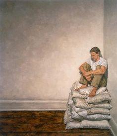 Clive Smith, Artist – here we are going Artist Painting, Figure Painting, Artist Canvas, Tableaux Vivants, A Level Art, Art Plastique, Contemporary Paintings, Aesthetic Art, Figurative Art