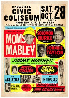 "Personalised Novelty Music Poster""Moms Mabley at the Civic Coliseum, Knoxville with Special Guest Star - You! Vintage Concert Posters, Vintage Posters, Vintage Photos, Layout Design, Flyer Design, Jazz Poster, Somebody To Love, Poster Prints, Art Prints"