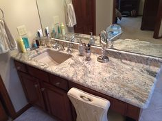 #granite #stone #sink #bathroom #remodeling #
