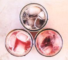 Three Delicious Shrubs: Raspberry-Lemon, Plum-Orange, and Blueberry-Peach-Basil Cocktail Drinks, Fun Drinks, Yummy Drinks, Alcoholic Drinks, Beverages, Cocktails, Shrub Drink, Shrub Recipe, Drinking Vinegar