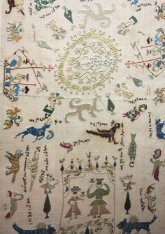 embroidered towel, probably Ioannina, century, Benaki Museum Embroidery Art, Embroidery Designs, Textile Patterns, Textiles, Benaki Museum, Greek Design, Embroidered Towels, Islamic Art, Athens
