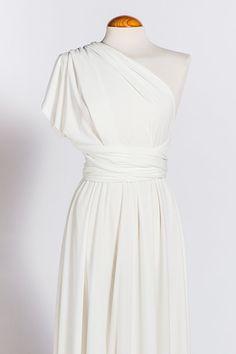 White Summer Dress / Infinity White Gown / Wedding by mimetik