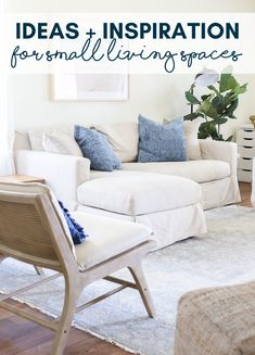 Don't let the size of your living space damped your decorating style! If you're looking for ideas and inspiration for a sprucing up a small living space, look no further, friend! Build A Fireplace, Brick Fireplace Makeover, Fireplace Mantels, Living Room White, White Rooms, My Living Room, Small Space Living, Living Spaces, Cane Back Chairs