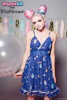 JapanLA Clothing presents: Rilakkuma in SPAAACE! Collection    Babydoll Dress  Available May 30th at JapanLA and www.japanla.com