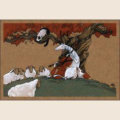 Сюита для виолончели №1. Из набора Про Лошадь - Катя Бауман   Магазин открыток Cardspoint.ru