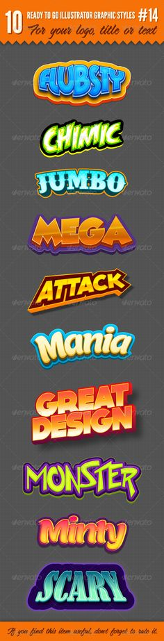 10 Logo Graphic Styles #14 by cicone on Envato