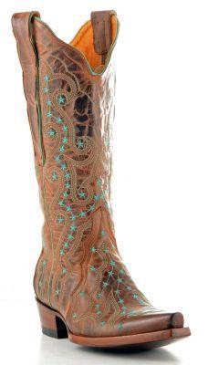 Womens Old Gringo Celeste Boots Rust #L171-4