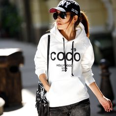 e1490af3487e1 HOT Selling 2013 new fashion Women s COCO Printed Hoodies Leasure tracksuit  Sweatshirt Tracksuit Tops Outerwear With Hat