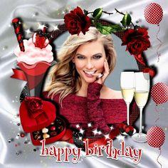 Birthday Photo Frame, Happy Birthday Frame, Happy Birthday Photos, Birthday Frames, Happy Birthday Wishes, Friend Birthday, Birthday Board, Candle In The Dark, Cake Frame