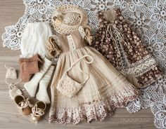 #LittleDarling #Outfitfordoll #Dresswithlace #Boho #dressfordoll #DiannaEffner #Dress_for_doll #Clothesfordolls