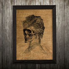 Skeleton print. Anatomy poster. Medical decor. Skull print.  PLEASE NOTE: this is not actual burlap, this is an art print, the image is printed on art paper.  SIZES: A4 (8.3 x 11) and A3 (11.6 x 16.3)  BUY 1 GET 1 FREE - use BOGOF7 code on checkout.   Please note: this poster comes without any frames and without any mounts.   Also, the colors of an actual product might slightly differ from what you see on the screen because of individual settings of your monitor.   Please read through our…