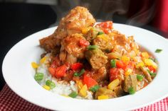 Slow Cooker Smothered Chicken and Okra
