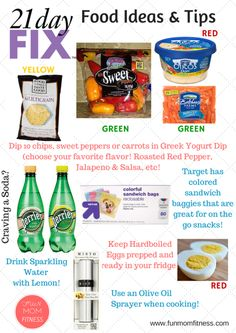21 Day Fix Food Ideas and Tips