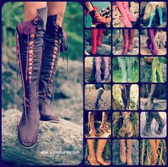 Gipsy Dharma. These handmade soft leather boots look amazing! So many colors to choose from.