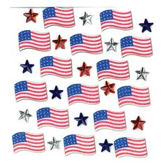 Have a Safe and Happy 4th of July from Cozy's Scrapbooking!  Jolee's Boutique scrapbooking sticker July 4th Repeats item 50-20798. $1.25