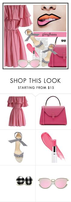 """""""happy"""" by sandevapetq ❤ liked on Polyvore featuring Chicwish, Valextra and Alexandre Birman"""
