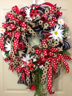 Spring /Summer Mesh Wreath on Etsy, $95.00
