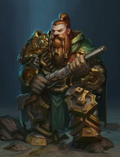 This is the first dwarf I paint, I took the idea from my old character role-playing