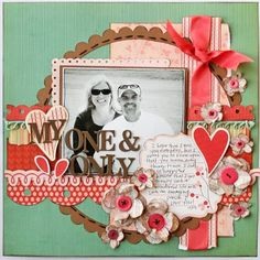 Love this page. Got to get back into scrapbooking.