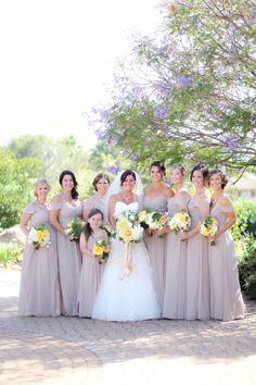 Pale Purple bridesmaid dresses: http://www.stylemepretty.com/little-black-book-blog/2014/09/15/romantic-santa-barbara-wedding/ | Photography: B. Schwartz - http://bschwartzphotography.com/