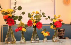 Ummm YES definite win Beaker and erlenmeyer flask flower arrangements. Yes yes yes.