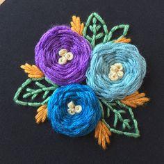 4 Floral Embroidery Hoop Hoop Art Wall Art by TheBarmyFoxShoppe