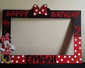 Minnie Mouse Photo Booth Frame Red/ Black or Red/White h x w in.