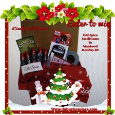 """Join my giveaway for a chance to Win """"Old Spice Holiday Smellcome to Manhood"""" kit #smellcometomanhood #sponsored http://www.dnbustersplace.com"""
