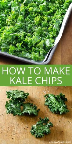 How to make kale chips---a quick and easy healthy snack to satisfy your crunchy craving. They're great for snacking or served with lunch... via @cookeatpaleo