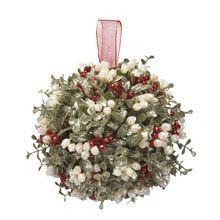 Kissing Krystals Large Mistletoe Ball Ornament - House of Holiday Christmas Crafts, Christmas Decorations, Christmas Ornaments, Holiday Decor, Christmas Ideas, Christmas Door, Seasonal Decor, Holiday Gifts, Mistletoe Diy