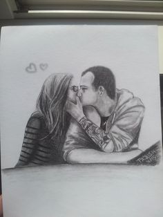 Portrait of my friend with her boyfriend