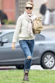Naomi Watts wearing Citizens of Humanity denim from the Premium Vintage collection.
