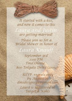beach themed bridal shower invitations by designsbydms on etsy 1095