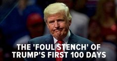 "44 People Sum Up Donald Trump's First 100 Days In One Sentence. The word ""scathing"" doesn't begin to cover it."
