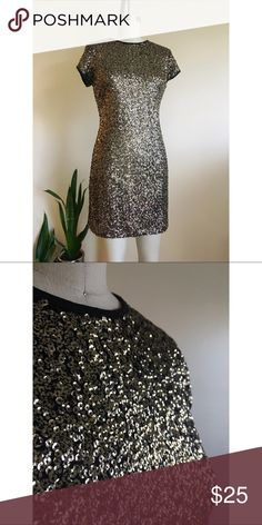 NWT Gold Sequin Dress Perfect for your New Years Eve night out!!!  New with tags gold sequin dress from Mango. Mango Dresses Mini